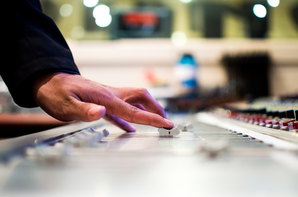 Public Domain Images � Unsplash.com � Hand Sound Board Mixing Studio DJ Volume Knobs