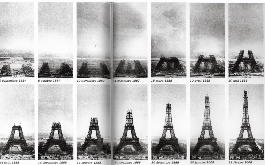 Public Domain Images – Eiffel Tower Construction from 1889 World's Fair